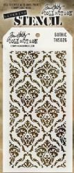 THS026 Stampers Anonymous Tim Holtz Layering Stencil - Gothic